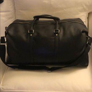 Coach Men's Black Leather Weekender/Travel Bag
